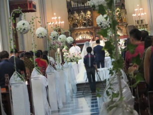 A church wedding in Jakarta